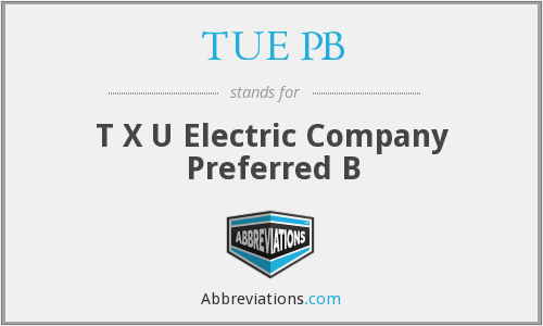 What does TUE PB stand for?