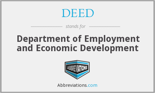 DEED - Department of Employment and Economic Development