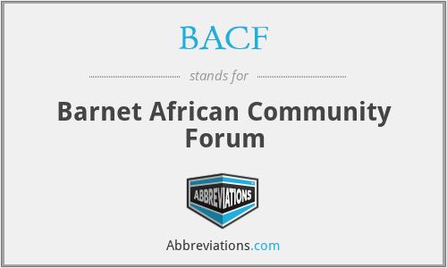 BACF - Barnet African Community Forum