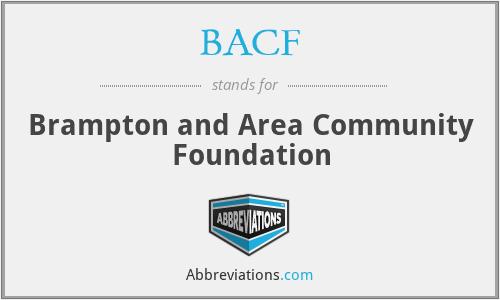 BACF - Brampton and Area Community Foundation