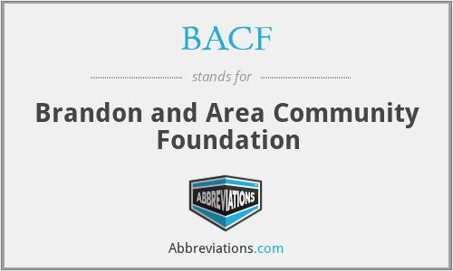 BACF - Brandon and Area Community Foundation