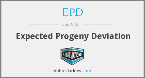 EPD - Expected Progeny Deviation