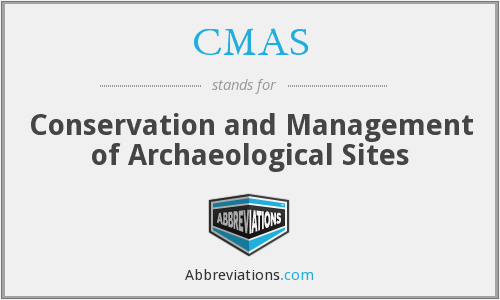 CMAS - Conservation and Management of Archaeological Sites