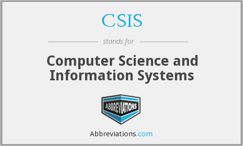 CSIS - Computer Science and Information Systems
