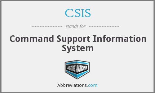CSIS - Command Support Information System