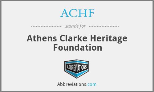 ACHF - Athens Clarke Heritage Foundation