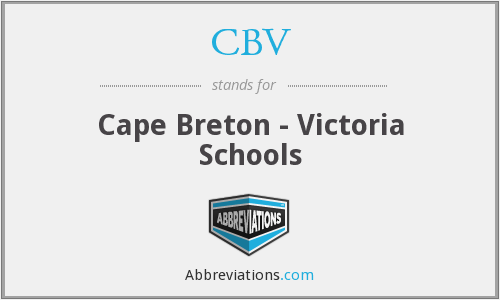 CBV - Cape Breton - Victoria Schools