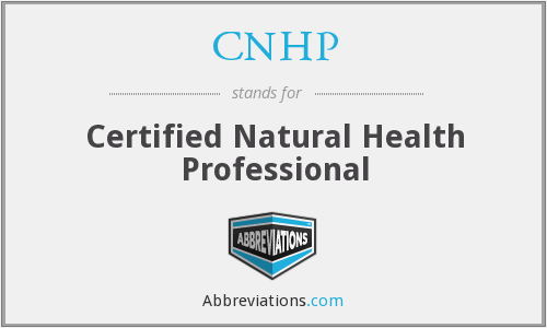 CNHP - Certified Natural Health Professional