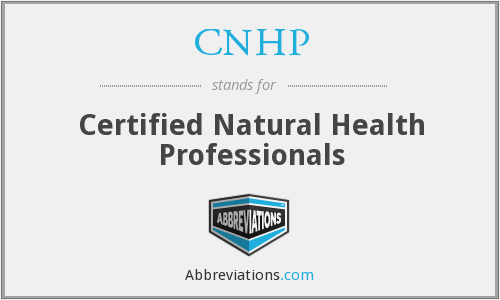 CNHP - Certified Natural Health Professionals