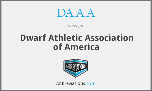 DAAA - Dwarf Athletic Association of America