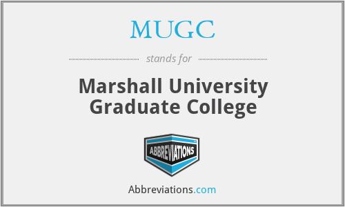 MUGC - Marshall University Graduate College