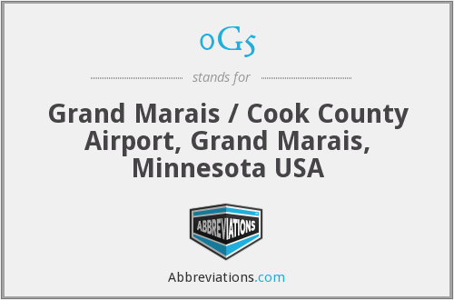0G5 - Grand Marais / Cook County Airport, Grand Marais, Minnesota USA