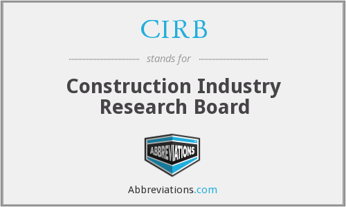 CIRB - Construction Industry Research Board