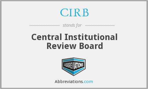 CIRB - Central Institutional Review Board