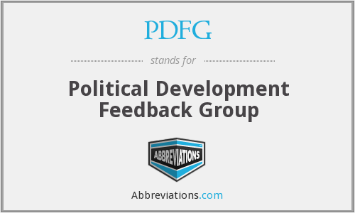 PDFG - Political Development Feedback Group