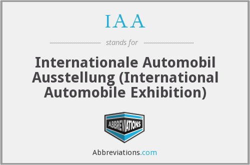 IAA - Internationale Automobil Ausstellung (International Automobile Exhibition)