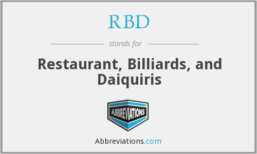 RBD - Restaurant, Billiards, and Daiquiris