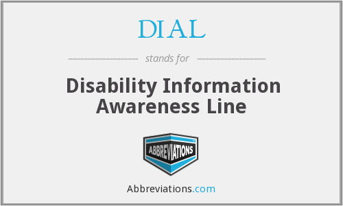 DIAL - Disability Information Awareness Line