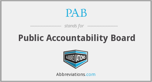 PAB - Public Accountability Board