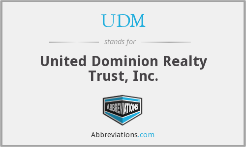 UDM - United Dominion Realty Trust, Inc.