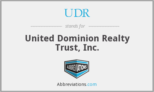 What does UDR stand for?