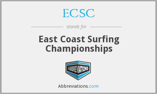 ECSC - East Coast Surfing Championships