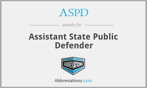 ASPD - Assistant State Public Defender