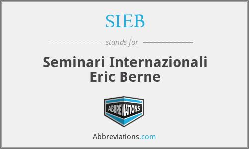 SIEB - Seminari Internazionali Eric Berne