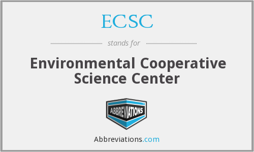ECSC - Environmental Cooperative Science Center