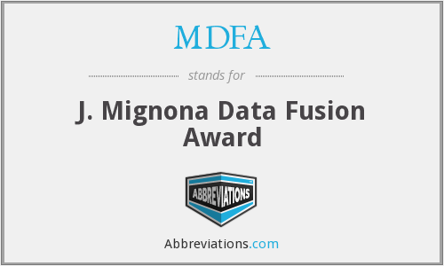 MDFA - J. Mignona Data Fusion Award