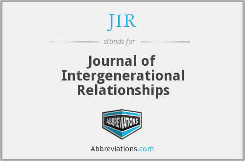 JIR - Journal of Intergenerational Relationships