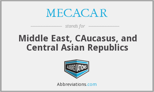 MECACAR - Middle East, CAucasus, and Central Asian Republics