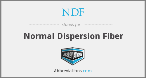 NDF - Normal Dispersion Fiber