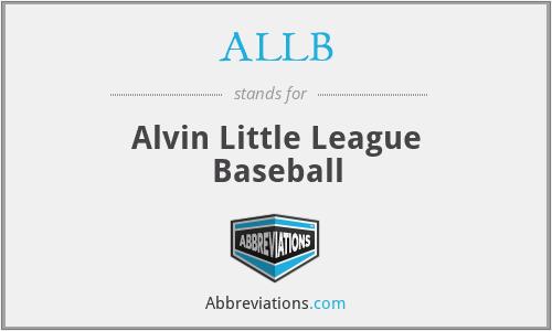 ALLB - Alvin Little League Baseball