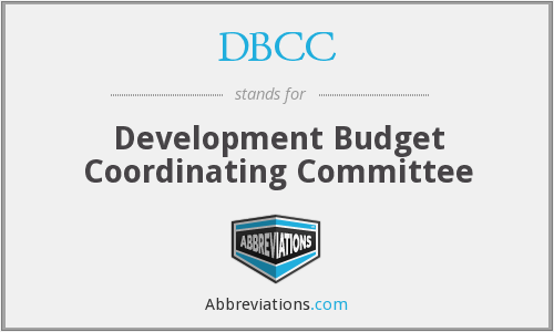 DBCC - Development Budget Coordinating Committee