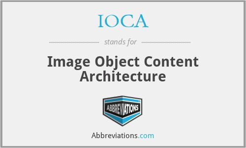 IOCA - Image Object Content Architecture