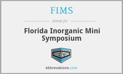 FIMS - Florida Inorganic Mini Symposium