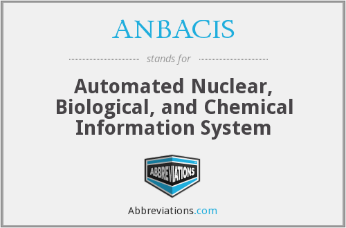 ANBACIS - Automated Nuclear, Biological, and Chemical Information System