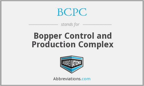 BCPC - Bopper Control and Production Complex