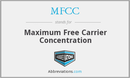 MFCC - Maximum Free Carrier Concentration