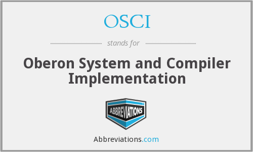 OSCI - Oberon System and Compiler Implementation