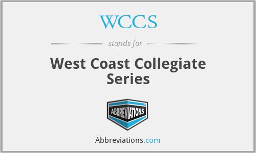 WCCS - West Coast Collegiate Series