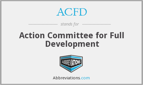 ACFD - Action Committee for Full Development