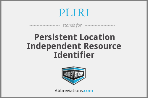 PLIRI - Persistent Location Independent Resource Identifier