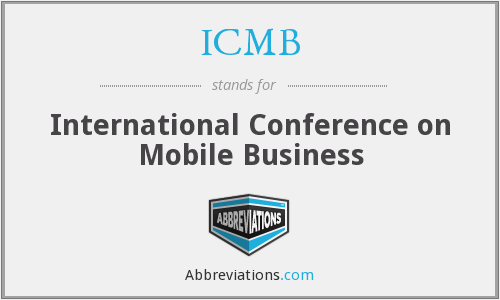 ICMB - International Conference on Mobile Business