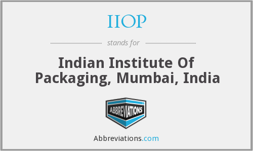 IIOP - Indian Institute Of Packaging, Mumbai, India