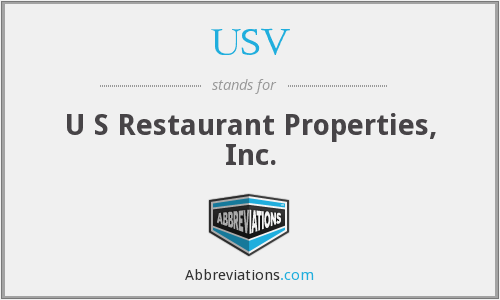 USV - U S Restaurant Properties, Inc.