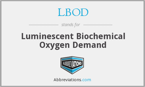 LBOD - Luminescent Biochemical Oxygen Demand