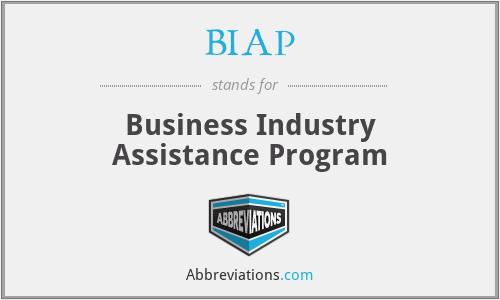 BIAP - Business Industry Assistance Program