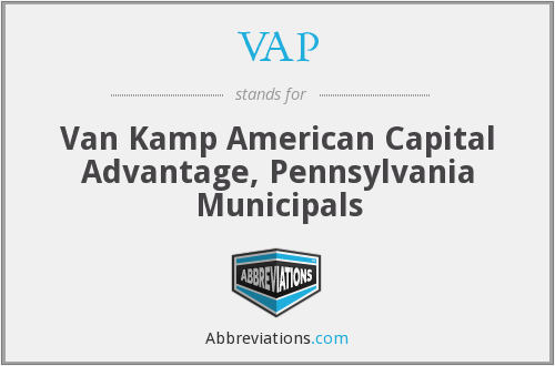 VAP - Van Kamp American Capital Advantage, Pennsylvania Municipals